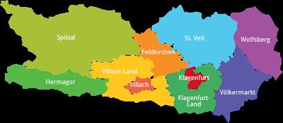 Mapa Korutány